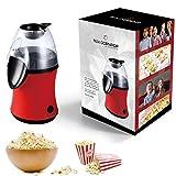 hLix CORNPOP - Machine à Popcorn à Air Chaud prêt en 3 Minutes 1100W Sans Gras ou Huile, Pour du Popcorn Frais et Sans Gras - Inclut 10 Boîtes pour Popcorn - ROUGE