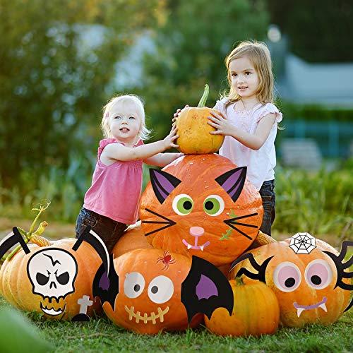 Joyjoz Adesivi in Schiuma di Zucca di Halloween, 25 Pezzi di Kit per Decorare la Zucca per la Decorazione della Festa di Halloween Simpatico Decoro di Halloween
