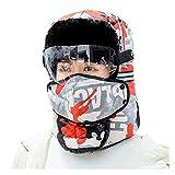 GDYJP con Gafas Hombres Hombres Trampa de Mujer Aviator Pilot Hat, cápsulas de Nieve de Piel de Piel sintética (Color : RD)