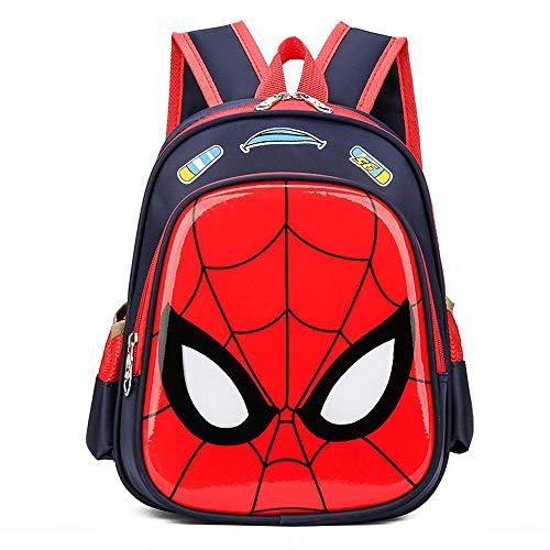 HUANIU Children's Backpack 3d Cartoon Spider Backpack Cartoon Ultralight Student Schoolbag Shoulder Bag Travel Backpack Wear-resistant And Waterproof D-28 * 15 * 23cm