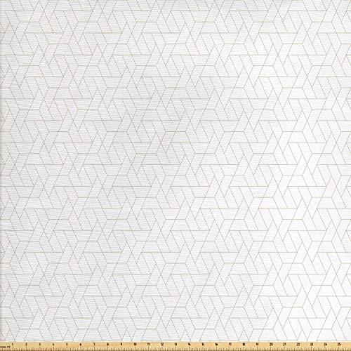 Juego de adhesivos decorativos para azulejos, diseño geométrico hexagonal y triangular, diseño de formas modernas, color beige y 30,5 x 30,5 cm, vinilo para suelos de azulejos de 12 unidades