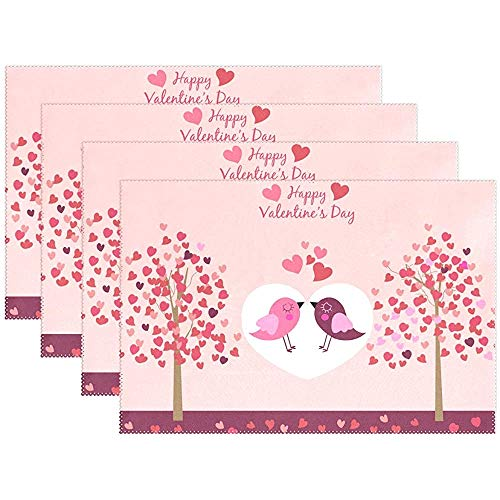 Valentine 'S Day Heart Bird Tree Mantel individual