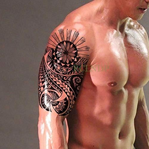 Handaxian 3pcs Impermeable Tatuaje Totem Tribe Pata Trasera del ...