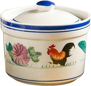 YARNOW 1 Set Ceramic Stew Bowl Pot with Lid Porcelain Steam Soup Bowl Birds Nest Cup Steaming Dessert Cup For Egg Custard ...