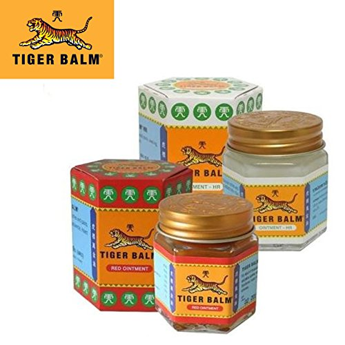 Pack Baume du Tigre Rouge/Blanc 30g | Anti-Douleurs (Tiger Balm) | Thailande