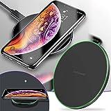Yubenhong 10W Wireless Charger Qi Induktions Ladegerät, Kompatibel mit iPhone 13/13 Pro/12 Pro Max/12 Mini/11/11 Pro/11 Pro Max/XS/XS Max/XR/ 8 Plus/ 8/Samsung S21/ S20/ S10/ S9/ (Black)