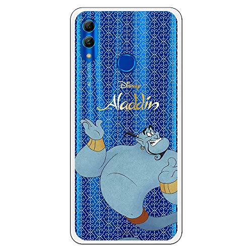 Funda para Huawei P Smart 2019-Huawei Honor 10 Lite Oficial de Aladdin Genio de la Lámpara Silueta Transparente para Proteger tu móvil.