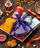 Chokola Small Golden Tray Diwali Gift Hamper-Assorted Chocolate Boxes with Designer Diya