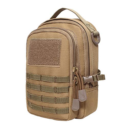 Bolsa táctica pequeña Molle Molle de bolsillo para cinturón de cintura bolsa para exteriores bolsa EDC 600D Nylon Life resistente al agua para camping, senderismo, trekking