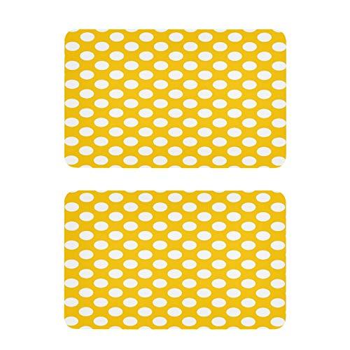 QMIN - Imanes para nevera (2 unidades), diseño de lunares, color amarillo