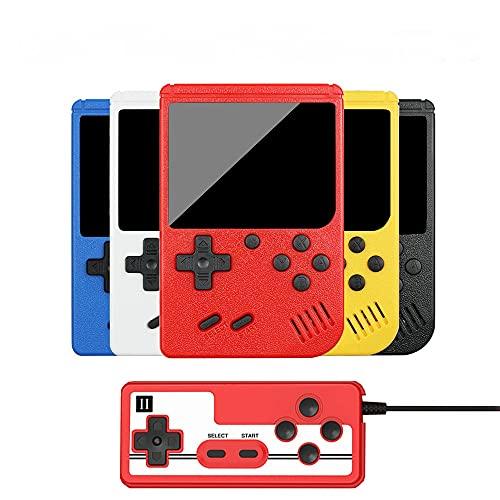 YONGQING Handheld-Spielekonsole 400 in 1 klassischen 8-Bit-Spielen, 3,0-Zoll-Retro-Videospielkonsole Bildschirmtasche Gameboy, Unterstützung für das Anschließen von Fernsehgeräten und 2 Controllern