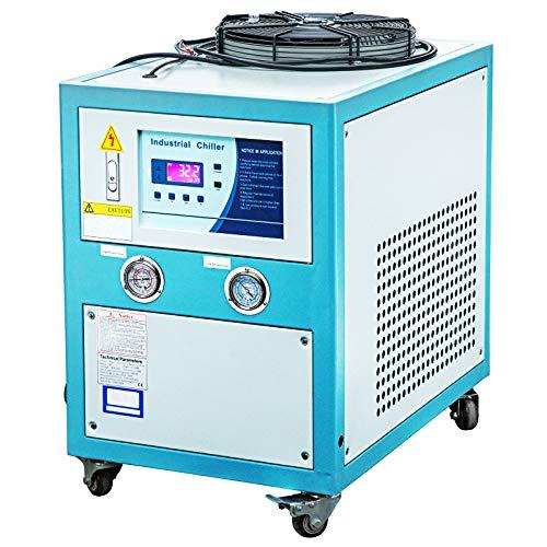 VEVOR Kaltwassersatz 2571kcal / h, Laser Chiller 1ph-220v / 60Hz, Wasser Chiller mit R407c Kältemittel, Industrie Wasserkühler 10 Gallonen, Schweißgeräte Maschine