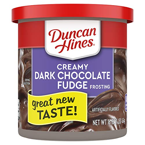 Duncan Hines Creamy Home-Style Dark Chocolate Fudge Frosting, 16-Ounce (Pack of 8)
