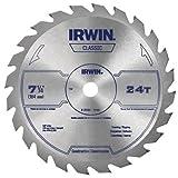 IRWIN Tools Classic Series Steel Corded Circular Saw Blade, 7 1/4-inch, 24T (25130)