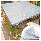 Paneles de Tela de Sombra Aluminet Reflectante Tela de Sombra Protector Solar Sombra Red UV Blanco Resistente, Tela de Malla Superior Lona Top Pantalla Sombra Panel para Flores Plantas Patio Césped Ta