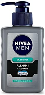 NIVEA MEN Face Wash, Oil Control, 10x Vitamin C, 150ml