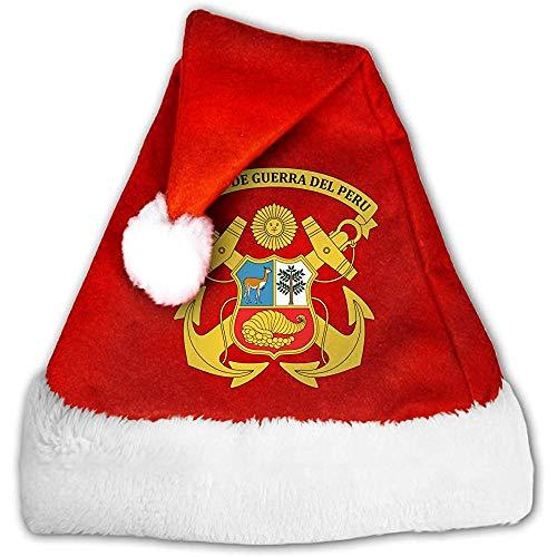 Kenice Santa Claus Mütze,Rot Weihnachten Hüte,Weihnachtsmann Hut,Weihnachtsmützen,Weihnachtsfeiertags-Hut Marina De Guerra Del Peru,Partei-Dekoration,Weihnachtsmann-Kappe S