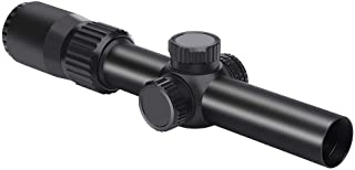 Feyachi Tactical Optics Falcon 1-4x24 Rifle Scope Red Illuminated Starburst Reticle Riflescopes for Hunting Shooting, 30mm...