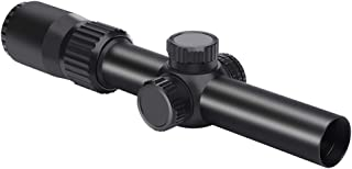 Feyachi Tactical Optics Falcon 1-4x24 Rifle Scope Red Illuminated Starburst Reticle Riflescopes for Hunting Shooting, 30mm (1.2