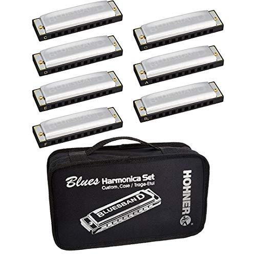 Hohner Blues Harp-Set A-Bb-C-D-E-F-G