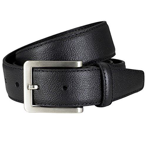 LINDENMANN Ledergürtel Herren/Gürtel Herren, schwarz, Größe/Size:110, Farbe/Color:schwarz