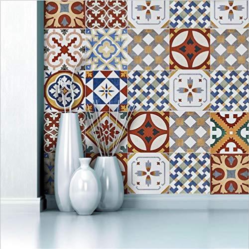 LB Marokko-Fliesenaufkleber, zum Selbermachen, PVC-Spritzschutz, zum Abziehen und Aufkleben, selbstklebende Aufkleber für Küche, Badezimmer, Heimdekoration, 20,1 x 499,9 cm