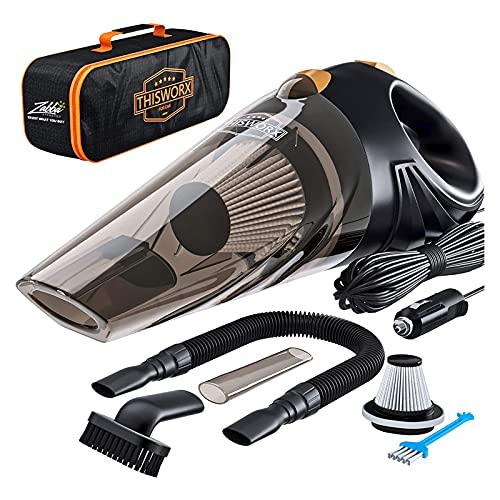 CHUN LING Aspirador de automóviles inalámbricos, 5000PA Mini aspiradora de Mano para Autos Limpieza de Escritorio para el hogar, aspiradora portátil
