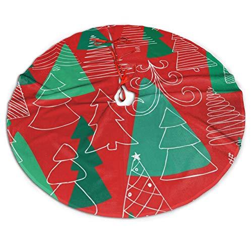 WAUKaaa Weihnachtsbaum Rock Skizze Weihnachtsbaum Rock Xmas Urlaub Dekoration