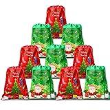 HOWAF 10pcs Grandes Bolsas Mochilas Bolsas de cumpleaños con cordón para niños Regalo Fiestas Infantiles Navidad cumpleaños Caramelos Dulces Galletas Chocolates