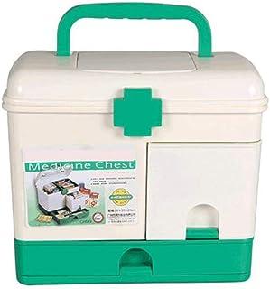Household Medicine Box Plastic Large First aid Box Multi-Layer Medical Box Portable Medicine Storage Box MJZDD (Color : White)