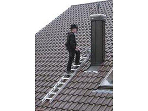 Dachleiter Alu natur 15 Sprossen 4,2 mtr.