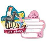 DH-Konzept Einladungskarten Bibi und Tina 6er Pack