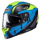 HJC RPHA 70 VIAS MC2SF Motorcycle Helmet, Black/Blue/Yellow, Size L