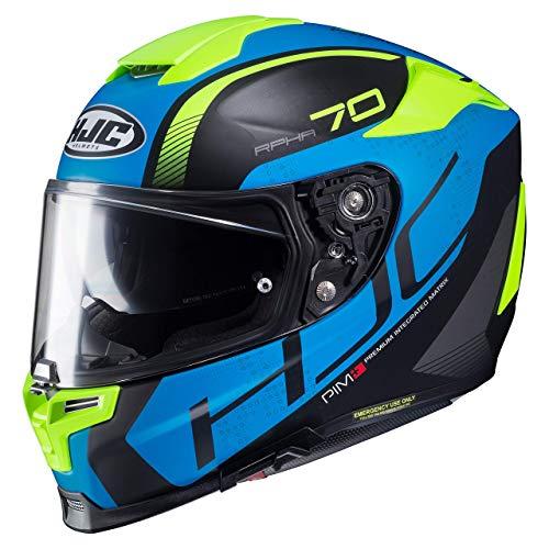 HJC Motorradhelm RPHA 70 Vias MC2SF, Schwarz/Blau/Gelb, Größe L