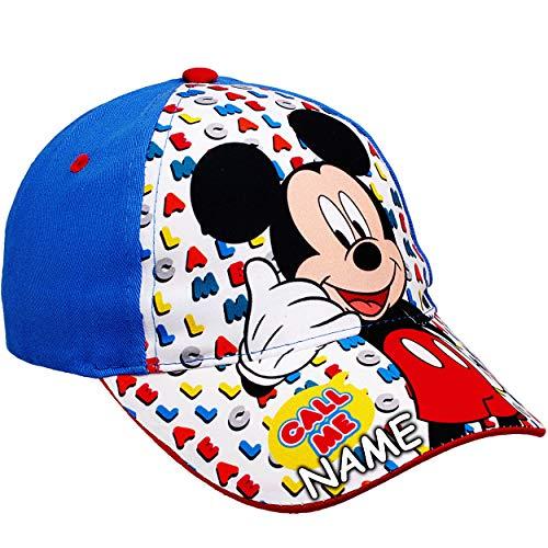 alles-meine.de GmbH Basecap - Disney - Mickey Mouse - inkl. Name - Größe 3 bis 12 Jahre - universal & verstellbar - 100 % Baumwolle - für Mädchen & Jungen - Kinder - Mütze / Somm..