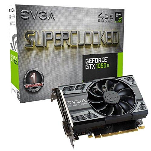 EVGA GeForce GTX 1050 Ti SC GAMING, 4GB GDDR5, DX12 OSD Support (PXOC) Grafikkarte 04G-P4-6253-KR