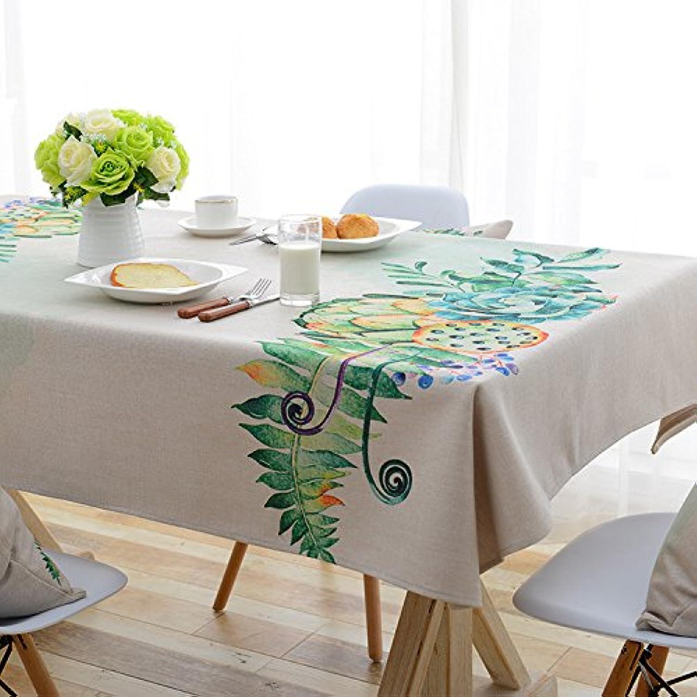 BlauLSS Europische pastoralen Werks Floral bedrucktes Tischtuch Polyestergewebe Tischdecke Tischdecke Home Textile, Tischdecke, 140 x 220 cm