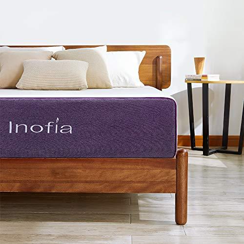 Inofia 10 Inch Gel Memory Foam Mattress Queen, GELEX Bed Mattress in a Box, Sleep Cooler | Medium Firm Feel, Cloud-Sleep, Multi-Layer Supportive for Pressure Relief, 100-night Sleep Trial
