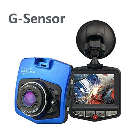 Mini Dash Cam Kamera für Auto 2,4Full HD 1080p Dash Camera Dashcam Weitwinkel von 170°, Comos Sensor, Erschütterungen, Nachtsicht, Prozessor hoher Geschwindigkeit, Beschleunigungsmesser A12