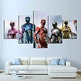 SFXYJ 5 Panneau Puissant Morphin Power Rangers Science Fiction Affiche De Film Art...
