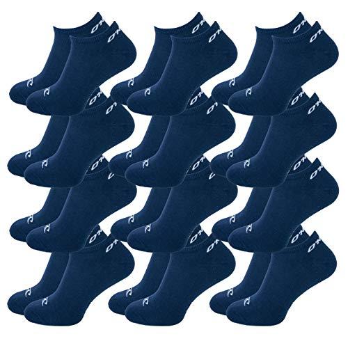 O'Neill Unisex Sneaker Socken 12er Pack Sportsocken Freizeitsocken Sneakersocken Baumwolle Invisible Sport Herren Damen 35-38 39-42 43-46, Größe:43/46, Farbe:Marine (4949P)