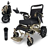 2020 Limited Edition Remote Control Foldable Electric Wheelchair Mobility Aid Lightweight Motorized Power Wheelchairs (19.5' Wide)