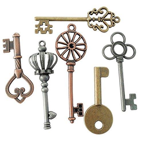MTD Products - Ciondoli di metallo Dtm a forma di chiave