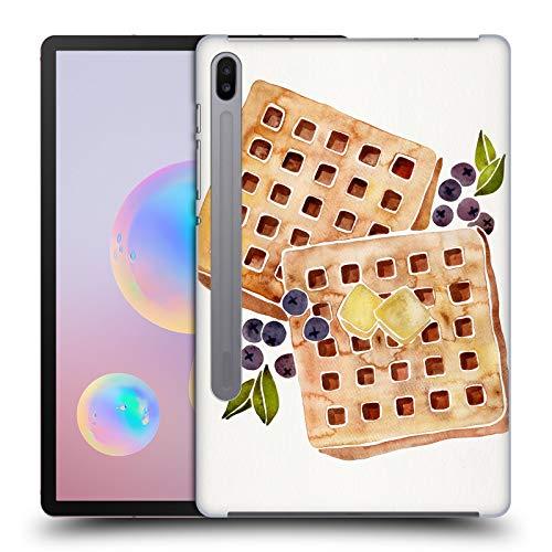 Head Case Designs Offizielle Cat Coquillette Waffles Essen Harte Rueckseiten Huelle kompatibel mit Samsung Galaxy Tab S6 (2019)