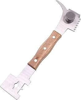 Guo Nuoen Multifunctional Bee Scraper Knife Beekeeping Tool Wood Stainless Steel Cut Honey (Silver)