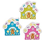 Bright Gingerbread House Magnet Christmas Craft Kits - Pack of 12 Kits