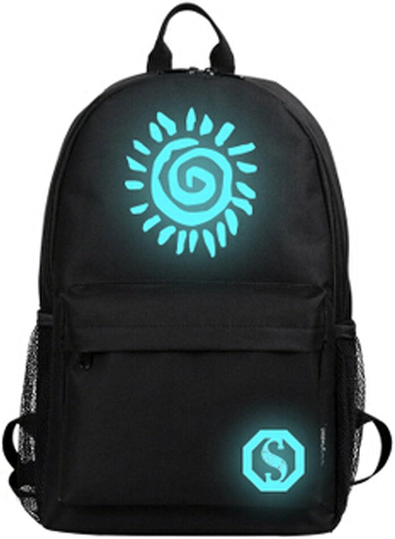 Fashion Noctilucent Travel School Backpack Pupils Shoulders Bag,Fire
