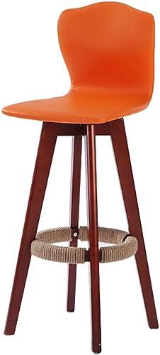 Huifang Corrective chair QFFL jiaozhengyi Barhocker, Wine Bar Barhocker Massivholz Rotierende Barhocker Küche Restaurant Kreative Barhocker (Farbe   Orange, Größe   4 )