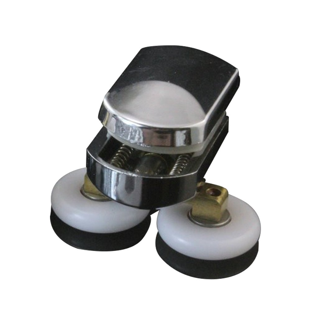 4 poleas de aleación de zinc para puerta corredera de ducha doble de 25 mm con poleas de riel: Amazon.es: Bricolaje y herramientas