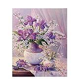Pintura DIY por números flores lienzo dibujo figura pintura al óleo pintada a mano decoración del ho...